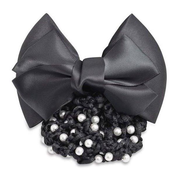 SD Design®  Barrette noeud en satin avec perles