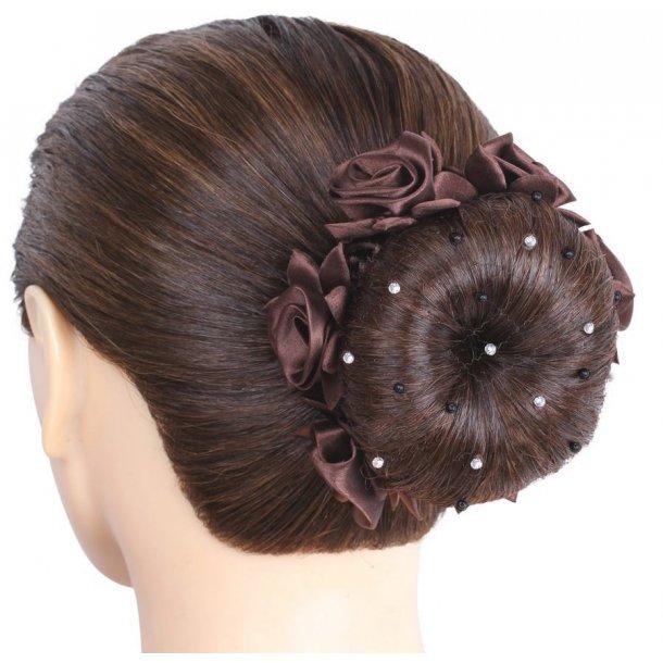 SD Design® Filet à cheveux avec perles noires et perles de crital