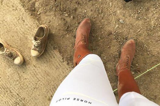 pantalon horse pilot blanc