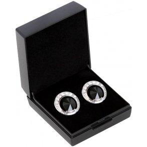 Sd Design – Boucles d'oreilles SD®  de Luxe en jet noir – B-139