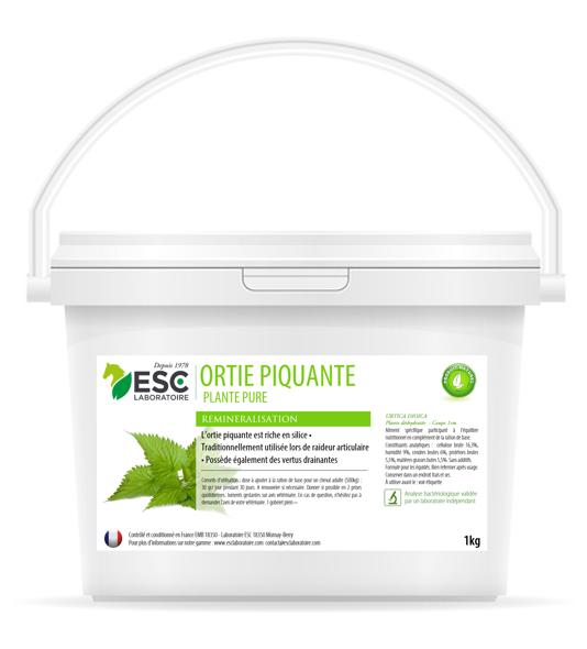 Esc Laboratoire – Ortie Pure – Articulations et remineralisation cheval – Plante pure