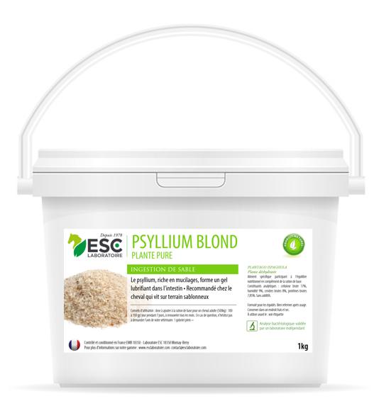 Esc Laboratoire – Psyllium blond 1kg – Coliques de sable cheval