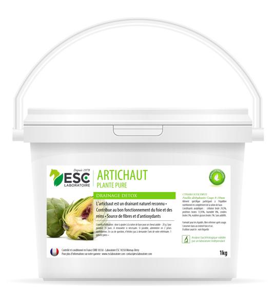 ESC Laboratoire – Artichaut – Source de fibres et drainage – 1kg