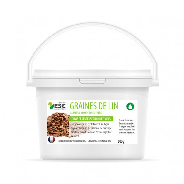 ESC Laboratoire – Graines de lin – Digestion cheval – Graines non cuites